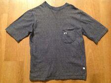 New listing Vintage 80s Hang Ten Surfer Skate Blue Striped Pocket T Shirt Size Small Rare!
