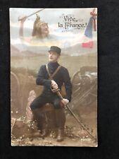 Vintage Postcard: Military RP #M486: Vice La France: Passed Censor 1915