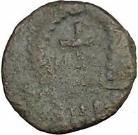 THEODOSIUS II 425AD  Ancient Roman Coin Cross within wreath of success  i32916