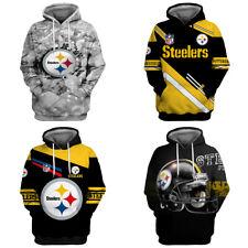 Pittsburgh Steelers Hoodie 3D Print Sweatshirt Men's Casual Pullover Jacket Coat