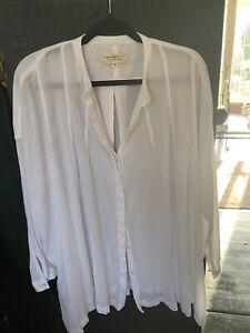 Ralph Lauren Ladies' White Cotton Oversized Shirt, Beautiful Quality, Size M