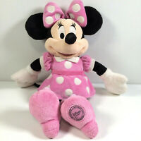 Minnie Mouse Official Disney Store Exclusive Plush Soft Toy Pink Polka Dots 14""