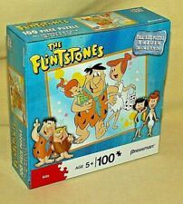 FLINTSTONES PUZZLE 100 PC PRESSMAN TOY 10576 2011 FRED WILMA PEBBLES SEALED*