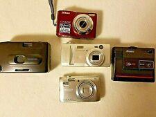 Vintage Lot of 5 Cameras 2 Nikon-1 Kyocera-1 Ansco-1 Panoramic Camera