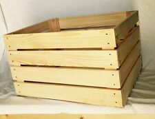 Giant pine wood apple crate DD333 50x40x30 vintage retro craft storage box