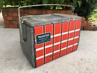 Vintage Western Field Ice Chest Cooler Hunting Fishing Box Montgomery Ward Retro