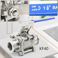 KF40 Vacuum Ball Valve stainless for vacuum leak detection manual flange Best