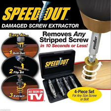 New Speed Out - Damaged Screw Extractor - 4pcs Stripped As Seen On TV Speedout