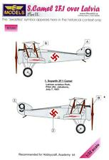 LF Models 1/32 SOPWITH CAMEL 2F.1 OVER LATVIA Part 1 Camouflage Paint Mask Set