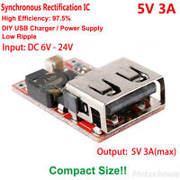 DC-DC Buck Module 6V-24V 12V to 5V 3A Converter USB Charger Power Supply Car DIY