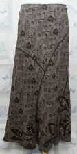 Per Una Brown Floral Long Skirt Size 10r Lined