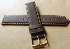 Timex T49671 Camper Expedition Brown Leather 20mm Watch Band GOLD TONE BUCKLE
