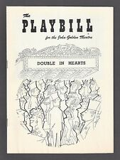 """William Redfield """"DOUBLE IN HEARTS"""" Neva Patterson 1956 FLOP Opening Playbill"""