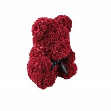 Weihnachtsgeschenk Rose Bear Flower Wedding Party Love Teddy 25cm Winerot