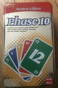 Phase 10 Masters Edition Card Game 2005 Fundex Collectors Tin Complete