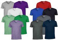Gildan Mens Men's Soft Style Plain V-Neck T-Shirt Cotton Tee Tshirt