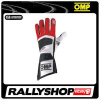 FIA OMP TECNICA EVO Gloves Super Race Rally Motorsport Red 8856-2000 STOCK