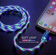 iPhone 6 -12 Ladekabel Magnetisch LED Beleuchtung Lauflicht RGB Buntefarbe