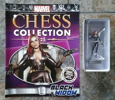 Marvel Chess Collection #25 Bkack Widow White Pawn Resin Figure & Magazine
