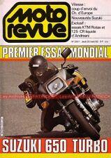 MOTO REVUE 2551 SUZUKI XN 85 650 TURBO KTM 125 500 Rotax ANDREANI 1982