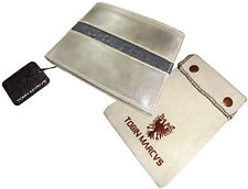 Unique RFID Protected Hand Made CALFSKIN LEATHER WALLET BIFOLD OSTRICH Grey Gray