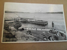 PIER+HIGHLAND MARY STATUE DUNOON No A.5932  Franked+Stamped 1947 Old Postcard