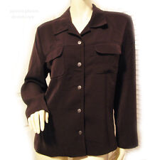 NYCC NEW YORK CLOTHING CO Womens Chocolate BROWN Long Sleeve Button Down TOP 12