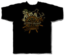 DROPKICK MURPHYS SHIPPING UP SKULL T-SHIRT MEDIUM
