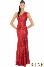 Sequin One Shoulder Sleeveless Maxi Dresses for Women