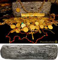 TUMBAGA 1528 FLEET SILVER BAR PIRATE GOLD COINS SHIPWRECK TREAUSRE CORTES~AZTECS