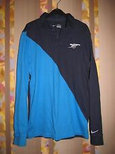 RARE ARSENAL LONDON POLO JERSEY LONG SLEEVE RETRO NIKE SIZE S