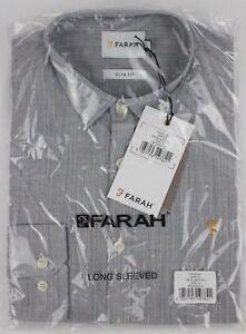 *Small* Farah Martin Slim Fit Striped Men's Shirt