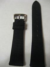 NEW BERTOLUCCI FASCINO BLACK GROS GRAIN 18MM STRAP
