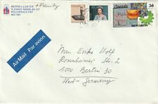 1988 Canada cover from Willowdale Ont to Berlin Germany