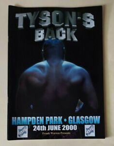 2000 - Mike Tyson v Lou Savarese, Heavyweight Fight Programme