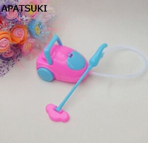 Kids Toy Miniature Dollhouse Mini Vacuum Cleaner For 1/6 Dolls For Kelly Doll