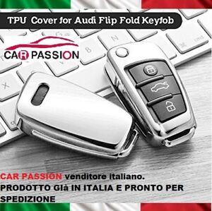 COVER CHIAVE TPU GUSCIO AUDI A1 A3 A4 A5 Q1 Q3 Q5 Q7 CROMATA CUSTODIA PROTETTIVA