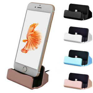 For iPhone 5 6 7 8 Plus Fast Charging Station Dock Stand Desktop Charger Holders