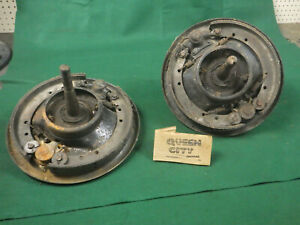 Model A Ford front brake assemblies with spindles,backing plates + steering arms