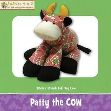 Patty the Cow Softie Toy Cute Boys Girl - Sewing PATTERN Funky Friends Factory