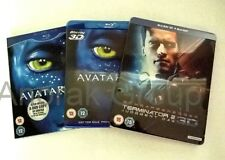 TITANIC 4 Disc +AVATAR Blu Ray+Terminator 2 EXTENDED 2D Theatrical 3D Steel Book