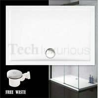 1200x800mm Walk in Shower Tray Enclosure Wet Room Rectangle Tray + free Waste