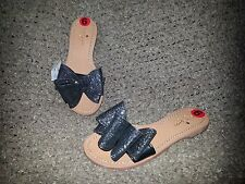 KATE SPADE New York-CICELY Sandals-Sparkly Glitter w/Bow-New with Tags-Size 6