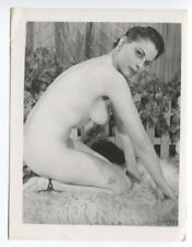 Mature Curvy Woman Enormous  Breasts 1950 Original Nude Pinup Photo  B4691