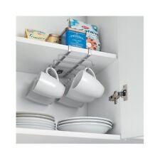 Mug Holder Hooks Under Shelf Cabinet Rack Silver Made In Italy Espresso  Cupboard