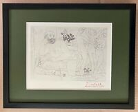 PABLO PICASSO +1955 SIGNED SUPERB PRINT MATTED 11 X 14 + LIST $895