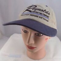 REYNOLDS CONTRACTING COMPANY BEIGE ADJUSTABLE BASEBALL HAT CAP PRE-OWNED ST42