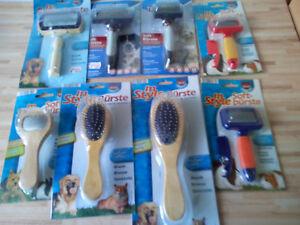 Softbürste, Zupfbürste, Hunde-, Katzen und Kaninchen Bürste, Kleintierbürste