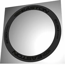 EASTON EC90 AERO ALL BLACK REPLACEMENT RIM DECALS  FOR 2 RIMS