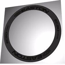 EASTON EC90 AERO ALL BLACK REPLACEMENT RIM DECALS  FOR 2 RIMS